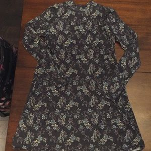 Long Sleeve Floral Dress or Tunic
